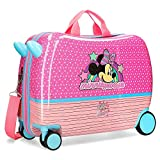 Disney Minnie Pink Vibes Maleta Infantil Rosa 50x38x20 cms Rígida ABS Cierre combinación 34L 2,1Kgs 4 Ruedas Equipaje de Mano