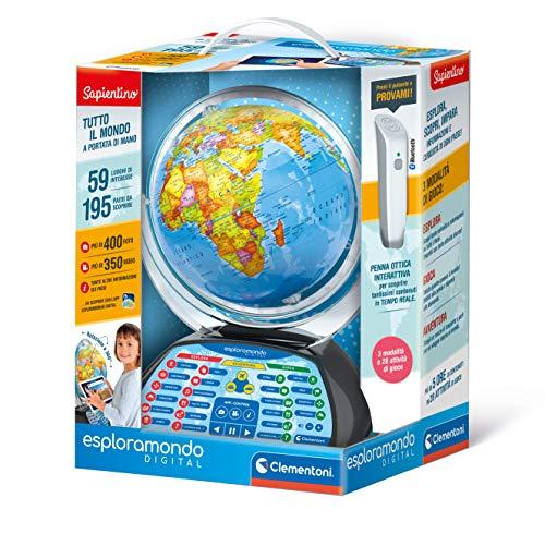 Clementoni- Globe terrestre numérique interactif pour Enfants 7 Ans +, 12097, Multicolore