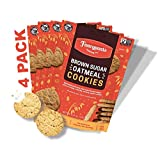 Fancypants Baking Co. Nut Free Cookies | Buttery Delicious & Crunchy Brown Sugar Oatmeal | Non-GMO Bagged Cookies 4 pack (5oz)