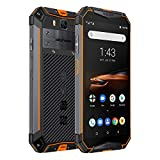Ulefone Armor 3W(2019) Rugged Smartphone Unlocked, IP68 Waterproof Cell phone, Android 9.0 10300mAh Big Battery 6GB+64GB, Dual 4G Global Bands 5.7' FHD+, Compass, GPS+Glonass, NFC, Shockproof (Orange)