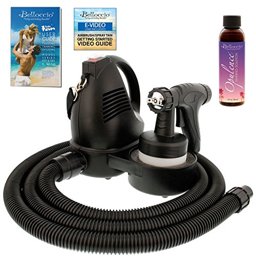 Belloccio Premium T75 Sunless Turbine Spray Tanning System; FREE 4 oz. Opulence Tanning Solution & FREE User Guide Video Link