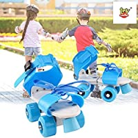 Adjustable length & Comfortable: adjustable roller skates for a custom fit. It has two clips under bottom of skates use those clips for size adjustment,Laces up front for firm fit,Adjustable soft belts for comfortable wearing Attractive Roller Skates...