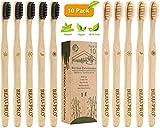 BEAU-PRO Brosse à Dents en Bambou, Lot de 10 Brosse à Dent 100% Biodégradable...