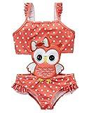 kavkas Baby/Toddler/Infant Rash Guard Swimsuit for Girl One Piece Bathing Suit Cute Cartoon Bikini (6T, owl)