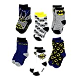DC Comics Batman Toddler 6 pack Crew Socks (2T/3T  Batman Pow!)