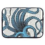 Periódico Vintage Bolsas para Laptop Azules compatibles con Tableta Netbook de 15 ″, maletín con Funda de Pringting, Funda para Bolso de Transporte