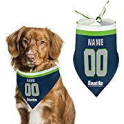 """➤get Your Cute Dog A Custom Football Bandana During The Football Season. ➤12 × 28 Inches (30 × 70 Cm). ➤click The """" Customize Now """" Button And Get Your Dog A Seattle Football Bandana,First Choose The Color You Want,Then Enter The Name And Number That..."""