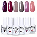 Perfect Summer Gel Nail Polsih - 6 Colors Gel Varnish Set Soak Off UV LED Manicure Nail Starter Kits 8ML 013