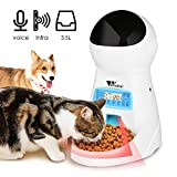 amzdeal Distributeur Automatique de Nourriture pour 4 Fois/Jour Pet Feeder Automatique Distributeur de...