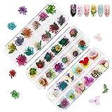 fleurs séchées nail décoration nail art décoration fleurs de style...
