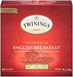 Twinings of London English Breakfast Black Tea Bags, 100 Count (Pack of 1)