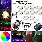 Lampe au Sol Spot Encastrable+Wifi contrôleur-Lumière RGBW (RGB+Blanc...