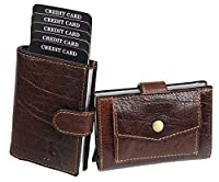 DURABLE MATERIAL :This functional card holder has been constructed using durable grain leather to ensure enduring service .Its utility is further enhanced due to the durable cloth inner lining.The unique thing about this card case is that It is made ...