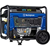 Westinghouse Outdoor Power Equipment WGen5300DFcv Dual Fuel Portable Generator with 120/240V 5300 Rated 6600 Peak Watts Gas or Propane Powered, CARB Compliant RV & Transfer Switch Ready with CO Sensor