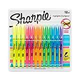 Sharpie Resaltadores de bolsillo, punta de cincel, colores surtidos, 12-Count