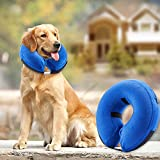 BENCMATE Protective Inflatable Collar for Dogs and Cats - Soft Pet Recovery Collar Does Not Block Vision E-Collar(Large)