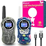Kids Two Way Radios Toys for 4-12 Year Old Boys/Girls, Kids Walkie Talkies, 22 Channel FRS Walkie Talkies for Kids Birthdays Christmas Best Gifts Toys for Boys and Girls Outdoor Camping