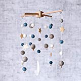 Baby Crib Mobile Wooden Wind Chime Bed Bell,Nursery Mobile Crib Bed Bell Baby Bedroom Ceiling Wooden Beads Wind Chime Hanging