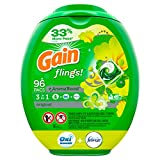 Gain flings! Laundry Detergent Pacs Plus Aroma Boost, Original Scent, HE Compatible, 96 Count (Packaging May Vary)