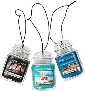 Yankee Candle Car Jar Ultimate Hanging Air Freshener 3-Pack (Bahama Breeze, Black..