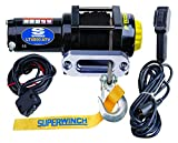 Westin 1140230 Black LT4000SR Winch 4,000 lbs, 12 VDC, 3/16 in x 50 ft synthetic rope, sealed solenoid, 12 ft handheld remote and  switch, 1.4 Hp,holding brake,166:1 gear ratio,aluminum hawse fairlead