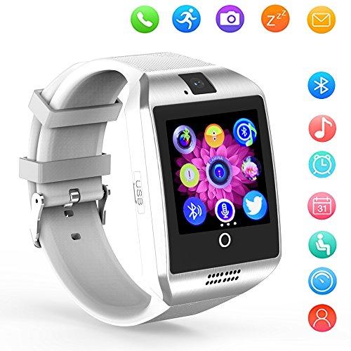 KXCD Q18 - Orologio intelligente DZ09, con Bluetooth/GPS/telecamera, per smartphone Android, bianco