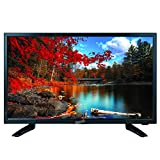 SuperSonic SC-2411 LED Widescreen HDTV & Monitor 24' Flat Screen with USB Compatibility, SD Card Reader, HDMI & AC/DC Input: Built-in Digital Noise Reduction, (2019 Model)