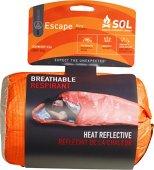 S.O.L. Survive Outdoors Longer Escape Bivvy Orange, 70 Percent Heat Reflective, Breathable Personal Shelter, Lightweight Emergency Survival Sleeping Bag Sack, Drawstring Bag, Water-Resistant, 8.1oz