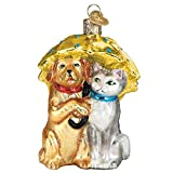 Old World Christmas Pet Lovers Glass Blown Ornaments for Christmas Tree Cats and Dogs