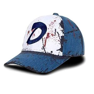 Ajpicture Clementines Hat Blood Stain & Dirt Dead Zombies Baseball Cap Halloween Cosplay Accessories Unisex Slate Blue