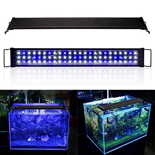 wolketon LED Aquarium Beleuchtung 36W Universal Aquarium Lampe LED Pflanze mit Verstellbarer Halterung für Süßwasser-Aquarien…