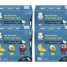 Gerber My 1st Fruits Starter Kit Banana, Pear & Apple, 12 OZ (24 pack)