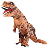 Lulu Home Halloween Dinosaur Costume, 7ft Tall T-Rex Inflatable Costume for Adult, Brown
