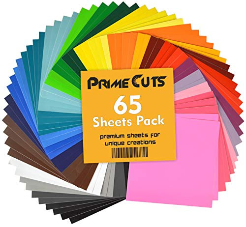 Permanent Adhesive Backed Vinyl Sheets by PrimeCuts USA - 65 Vinyl...