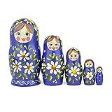 Poupées Gigognes Russes, 5 Poupées Matriochka Traditionnelles Style Romashka |...
