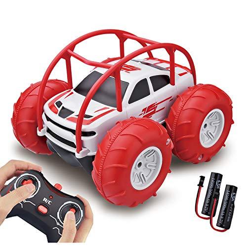 Voiture Télécommandée 60Min Autonomie, 360° Rotation avec LED - Couleur Disponible - Étanche Jouet Voiture de Course Radiocommandée Rapide Tout Terrain 4WD 2.4GHz pour Enfant Garçon Fille 3-12 Ans