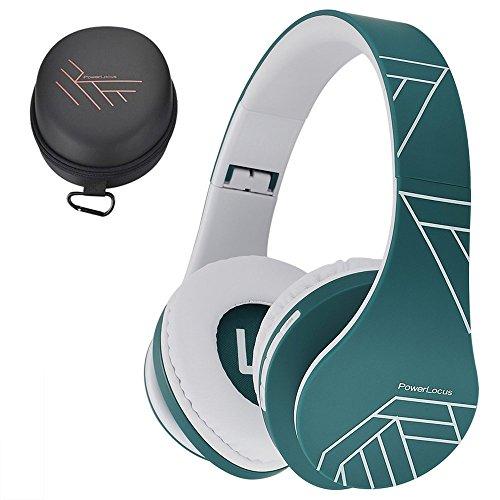 PowerLocus P2 – Auriculares Bluetooth inalambricos de Diadema Cascos Plegables, Casco Bluetooth con Sonido Estéreo Micro SD/TF, FM con micrófono y Audio Cable para Movil, PC, Tablet - Azul