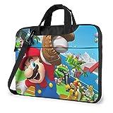 Super Mario - Maletín para portátil para mujer y hombre, bolso de hombro, oficina, negocios, viajes, tablet, 14 pulgadas