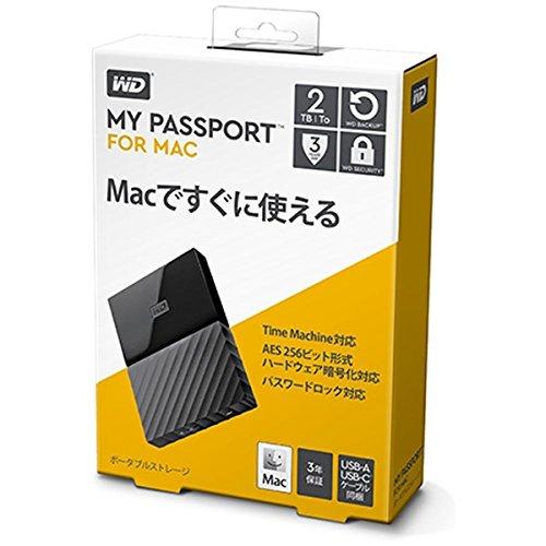 WESTERN DIGITAL Mac用ポータブルストレージ 「My Passport for Mac(2018年発売)」2TB