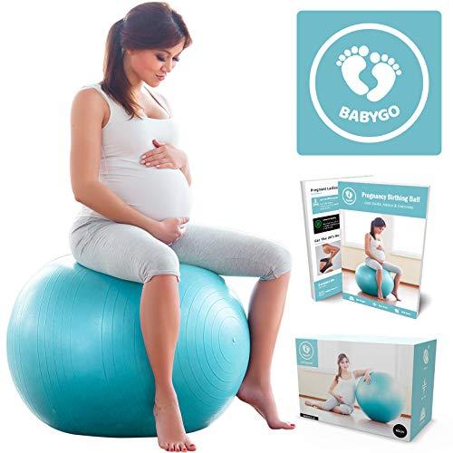 BABYGO Pelota de Pilates Embarazadas, Fitball, Ejercicio, Balón de Gimnasia Anti-Burst...