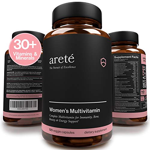 Natural Womens Multivitamin Supplement – 30+ Potent Vitamins, Minerals and Herbs for Women Health, Immune & Female Support, Antioxidant & Energy Blend, 120 Capsules, Easy to Swallow Pills Non-GMO