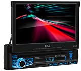 BOSS Audio Systems Elite BV860B Car DVD Player - Single Din, Bluetooth Audio and Calling, Built-in Microphone, DVD, CD, USB, SD Aux-in, AM/FM Receiver, 7 Inch Touchscreen, Multi-color Illumination