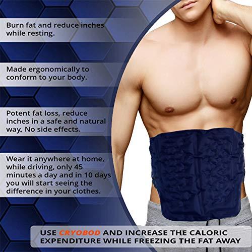 CRYOBOD Fat Freezer Belt - Cold Body Sculpting Kit for Easy Slimming-Body Shaper - Tummy Tuck, Shrink Belt Wrap - Skin-Safe Fat Trimmer to Get Slimmer - For Women and Men-For Women and Men - Fits 29 to 39 Inch Waist 3