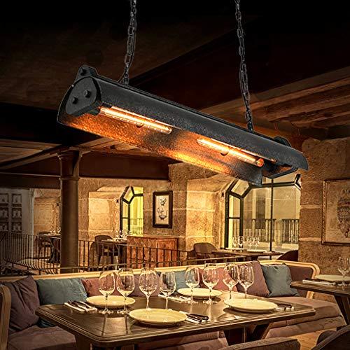 Retro Pendant Light Vintage Industrial Wrought Iron Heavy Steampunk Steel Hanging Lamp E26 Bulb...