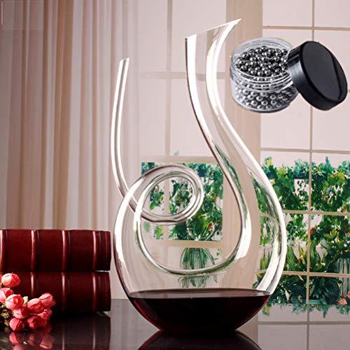 SDFSX - Decanter per vino, soffiato a mano, in cristallo senza piombo, 1500 ml, classico aeratore per vino, caraffa per vino rosso, accessori per vino, regalo per vino