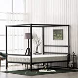 Bonnlo Canopy Bed Frame, Black, Queen Size