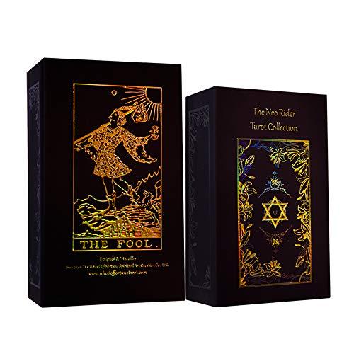 Tarot Cards,Holographic Tarot Decks,78 Tarot Cards Deck Set,...