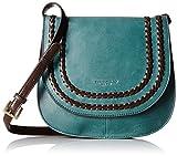 Tignanello Boho Classic Vintage Leather Saddle Bag, Juniper/Dark Brown