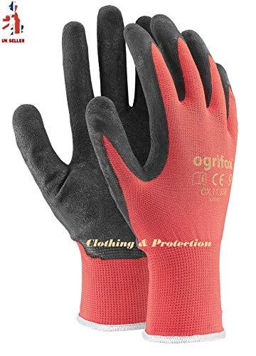 24paia di guanti da lavoro, rivestiti in lattice durevole, con salda presa di sicurezza, adatti per...