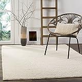 Safavieh Natura Collection NAT620A Handmade Premium Wool Area Rug, 8' x 10', Ivory